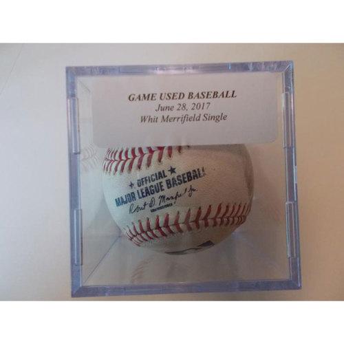 Photo of Game-Used Baseball: Whit Merrifield Single