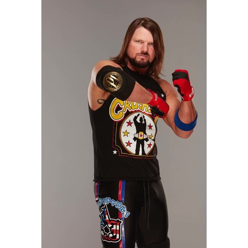 Photo of AJ Styles WORN & SIGNED Gold Elbow Pad (Connors Cure - 09/05/17)
