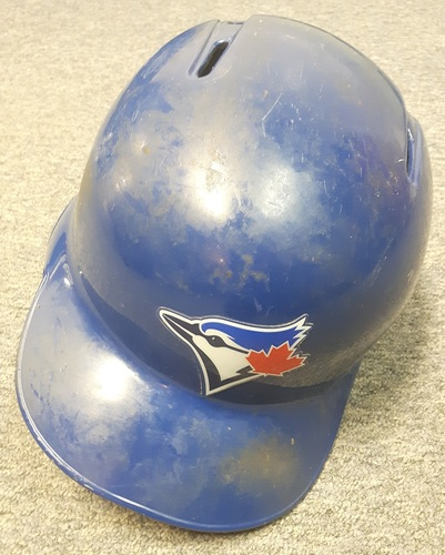 Authenticated Game Used Helmet - #8 Kendrys Morales. Worn for Walk-Off HR on April 15, 2017. Size 7 1/2.