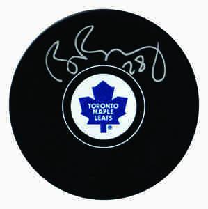 Brad Boyes - Signed Toronto Maple Leafs Autograph Series Puck
