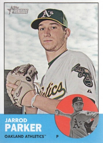 Photo of 2012 Topps Heritage #247 Jarrod Parker RC