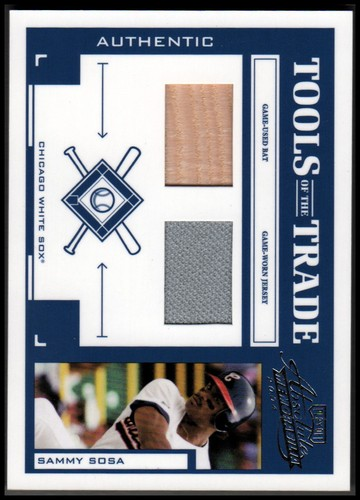 Photo of 2004 Absolute Memorabilia Tools of the Trade Material Combo #134 S.Sosa Sox Bat-Jsy/250