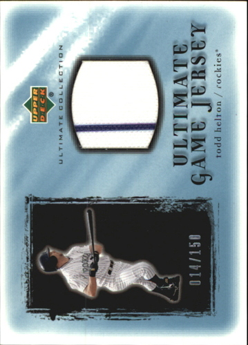 Photo of 2001 Ultimate Collection Game Jersey #UTH Todd Helton