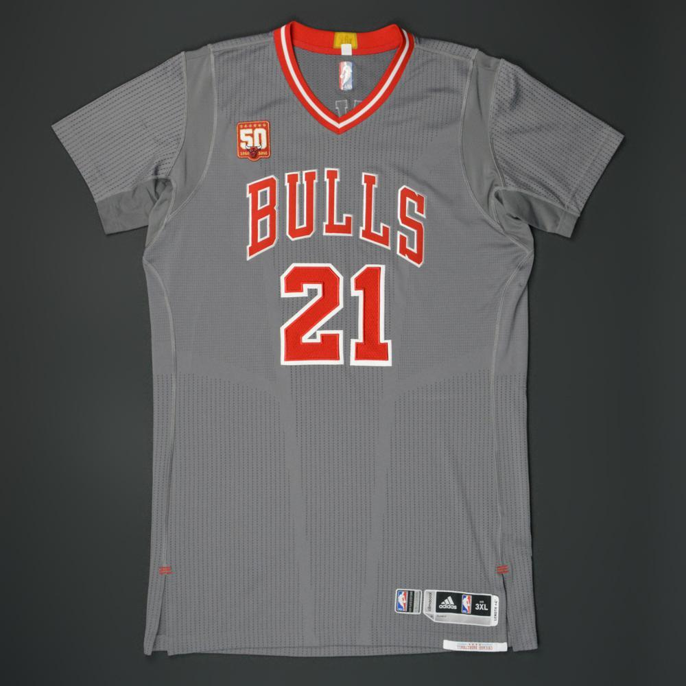 jimmy butler - chicago bulls - game-worn pride jersey w/50th