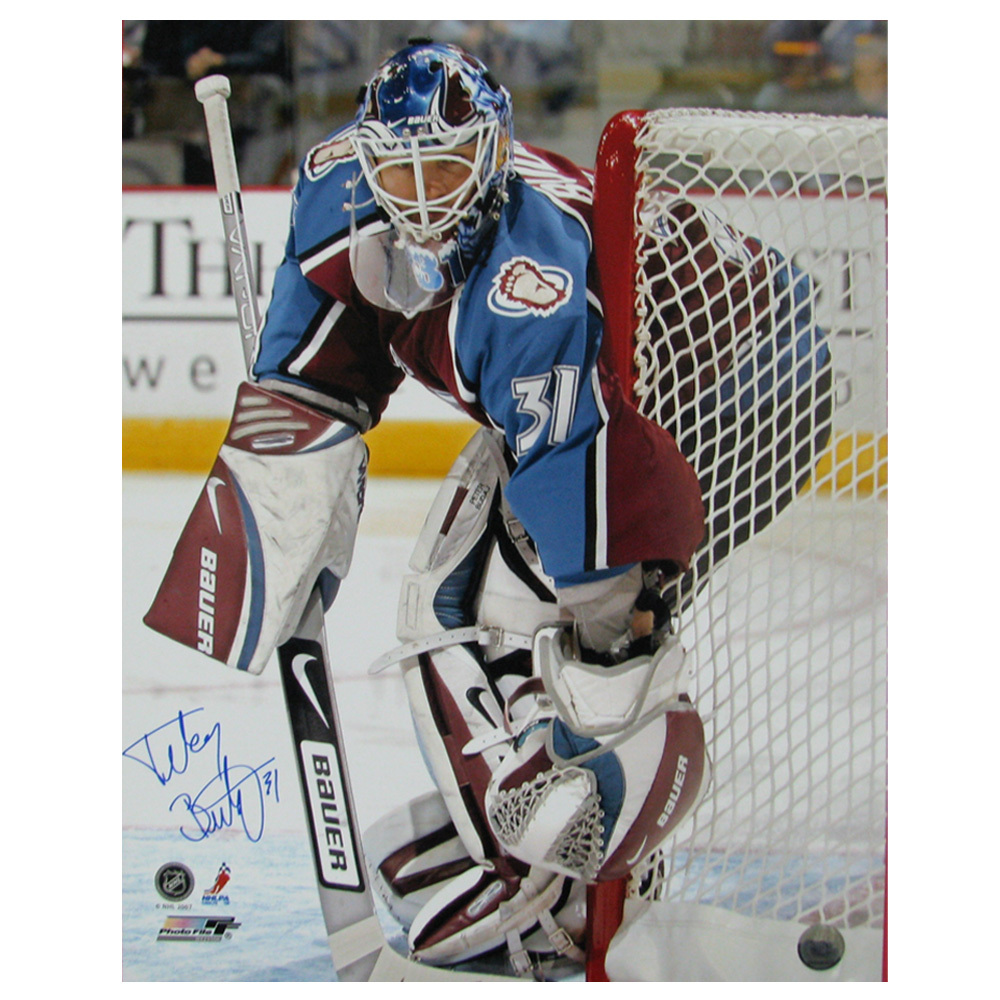 PETER BUDAJ Signed Colorado Avalanche 16 X 20 Photo - 79012