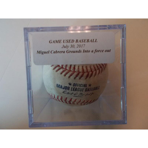 Photo of Game-Used Baseball: Miguel Cabrera Grounds Into a Force Out