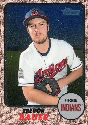 Photo of 2017 Topps Heritage Chrome 437/999 Trevor Bauer -- Indians post-season