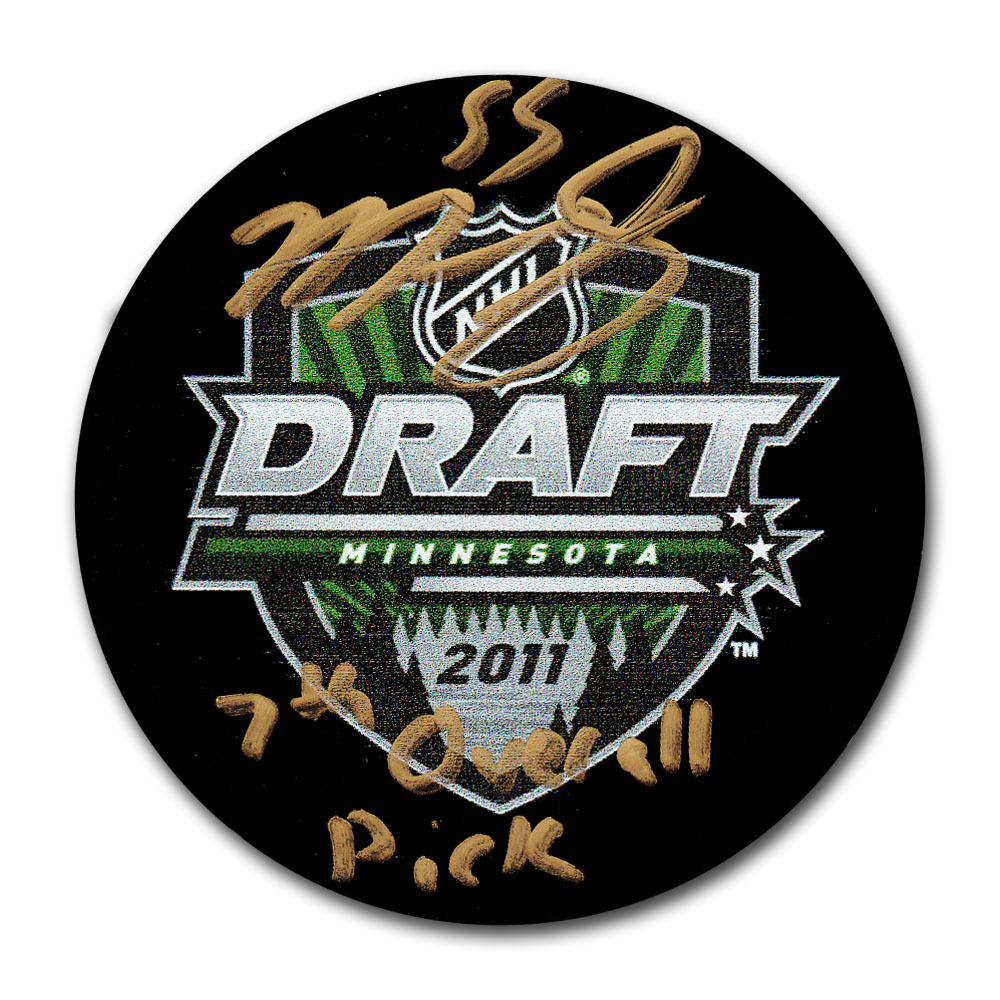 Mark Scheifele Autographed 2011 NHL Entry Draft Puck (Winnipeg Jets)
