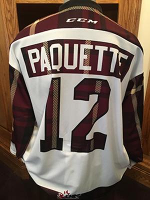 Chris Paquette (#12) - Game-Worn #PetesPlaidNight Jersey