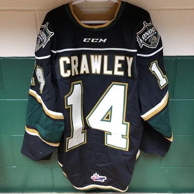 Brandon Crawley 2016-2017 Black Game Jersey
