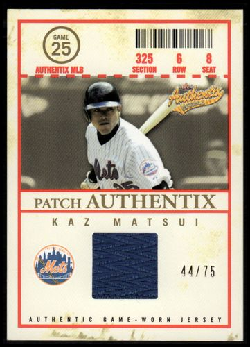 Photo of 2005 Fleer Authentix Patch General Admission #KM Kaz Matsui