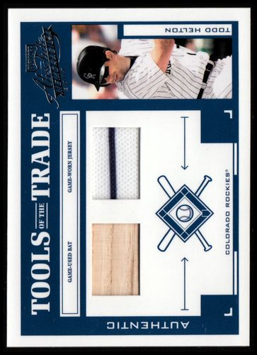 Photo of 2004 Absolute Memorabilia Tools of the Trade Material Combo #139 T.Helton H Bat-Jsy/250