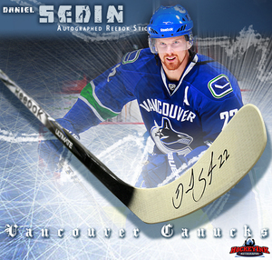 DANIEL SEDIN Signed Rebook 2K Model Stick - Vancouver Canucks