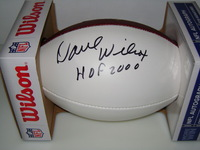 HOF - 49ERS DAVE WILCOX SIGNED PANEL BALL