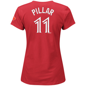 Women's Kevin Pillar Player T-Shirt Red by Majestic