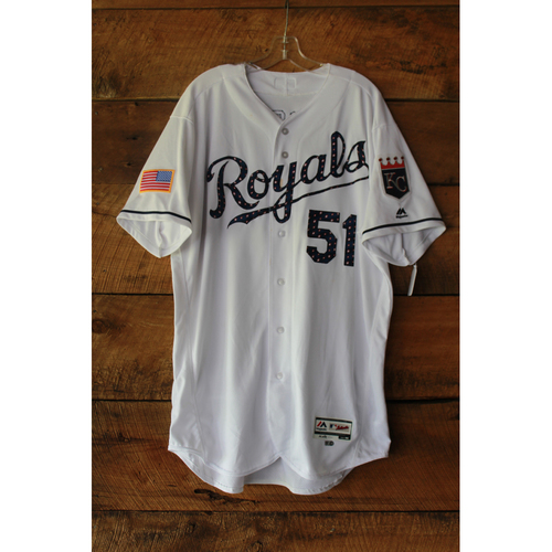 Photo of Jason Vargas Game-Used Jersey (7/2/17 MIN at KC) (Size 50)