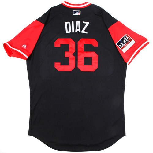 "Photo of Yandy ""Diaz"" Diaz Cleveland Indians Game-Used Players Weekend Jersey"