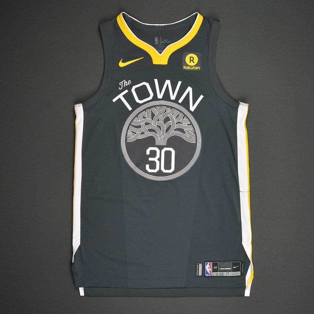 Stephen Curry - Golden State Warriors - Statement Game-Worn Jersey - 2017-18 Season