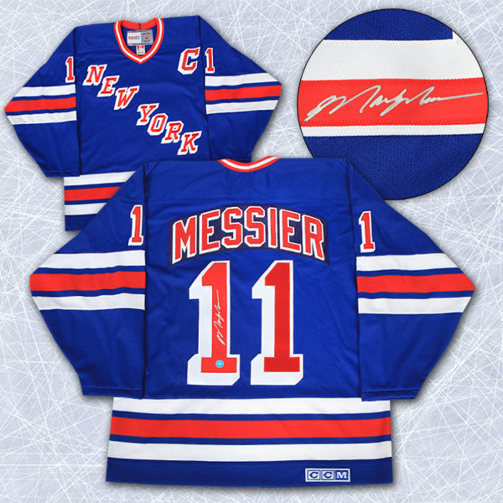 Mark Messier New York Rangers Autographed Retro CCM Hockey Jersey