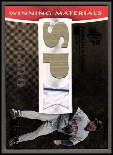 Photo of 2008 SPx Winning Materials SPx 150 #FL Francisco Liriano