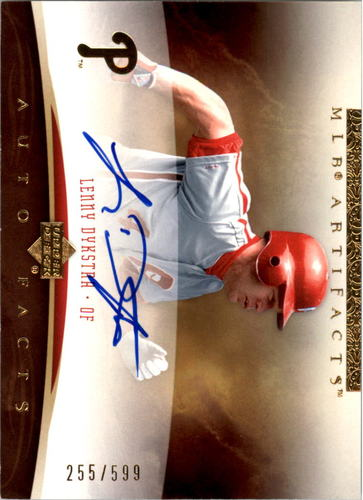 Photo of 2005 Artifacts Autofacts #LD2 Lenny Dykstra Phils/599
