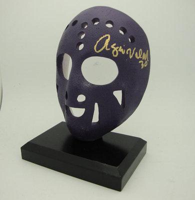 ROGIE VACHON Los Angeles Kings Autographed Full Size Purple Mask