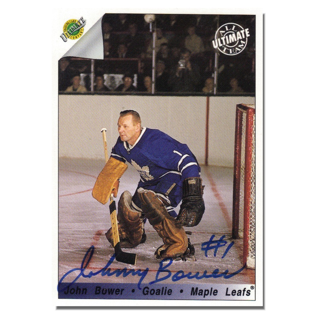Johnny Bower Autographed Toronto Maple Leafs 1992 Ultimate Trading Card Company Card