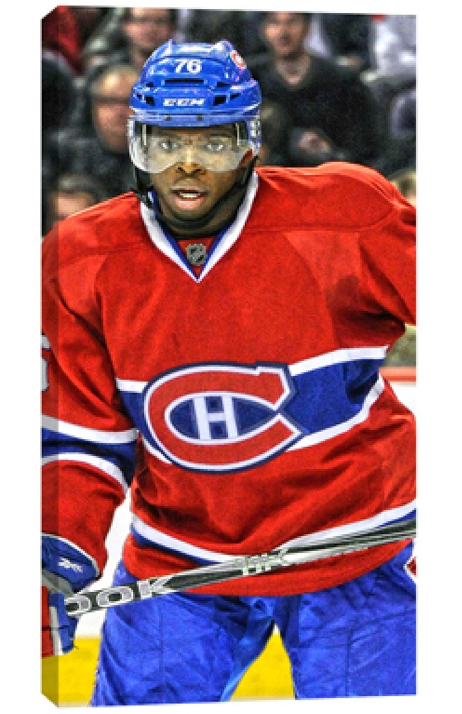 Subban,PK Unsigned 7x15 Canvas Canadiens