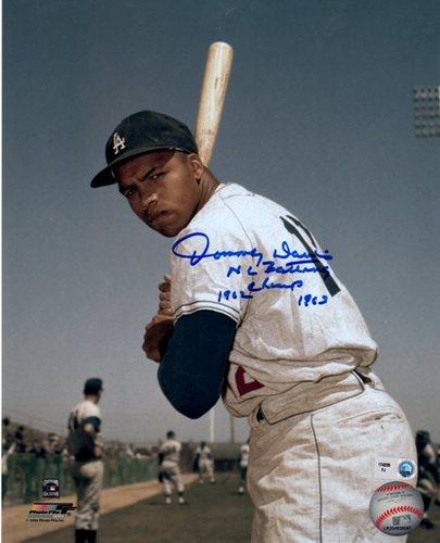 "Photo of Tommy Davis ""NL Batting Champ 62/63"" Autographed 8x10"