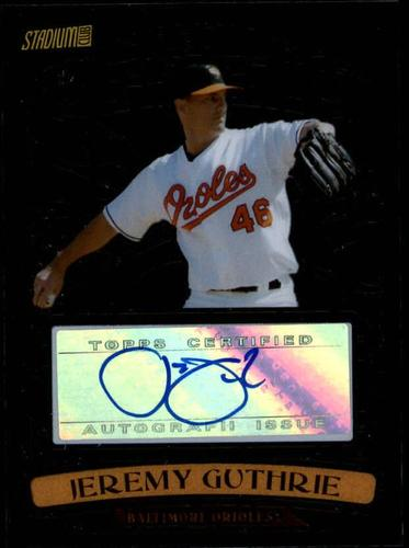 Photo of 2008 Stadium Club Beam Team Autographs #JGU Jeremy Guthrie AUTO