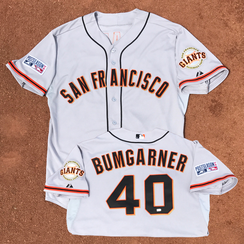2014 World Series Champion San Francisco Giants - 2014 NLCS Game 2 - Game-Used Jersey - Madison Bumgarner - 2014 NLCS MVP, 2014 World Series MVP