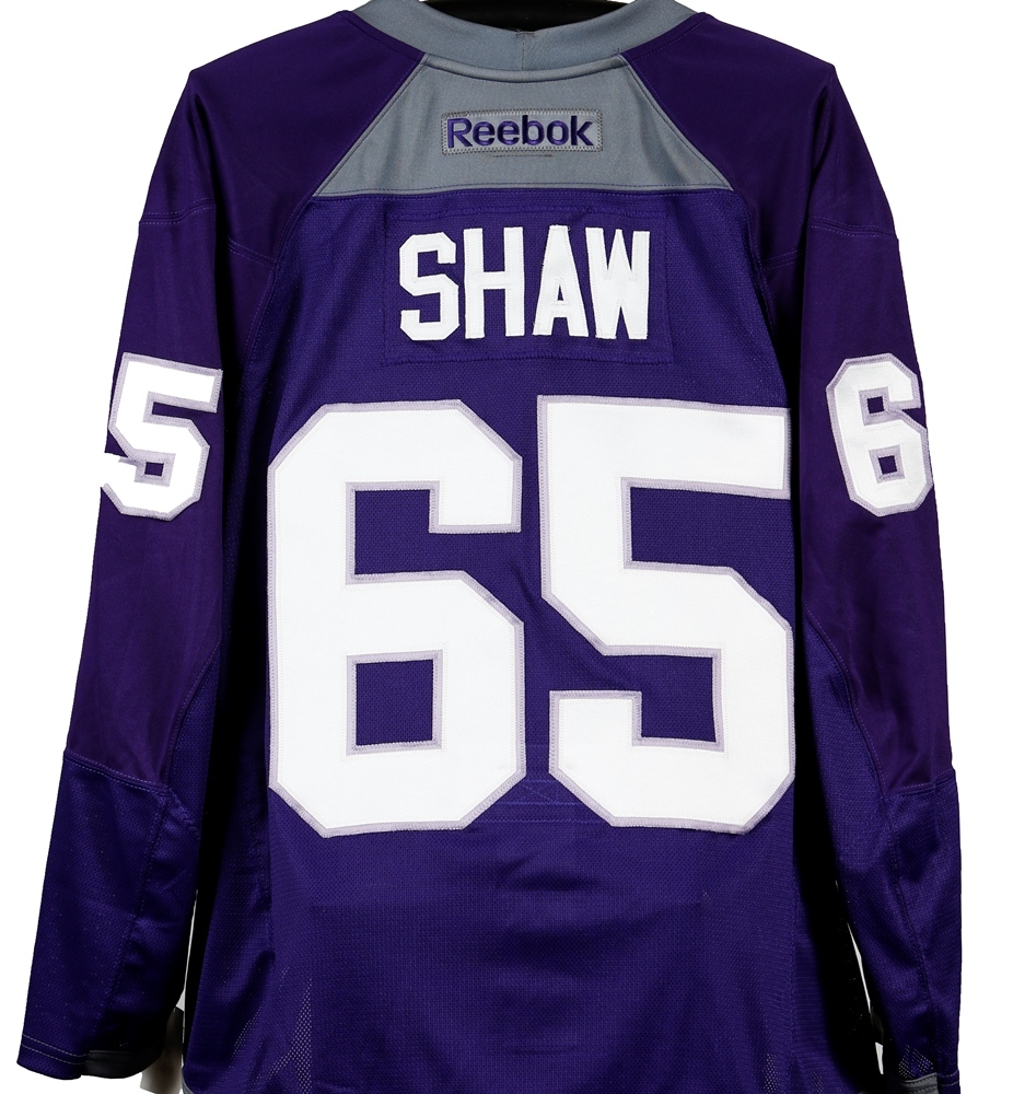 #65 - Andrew Shaw Autographed Authentic Hockey Fights Cancer Jersey - Chicago Blackhawks