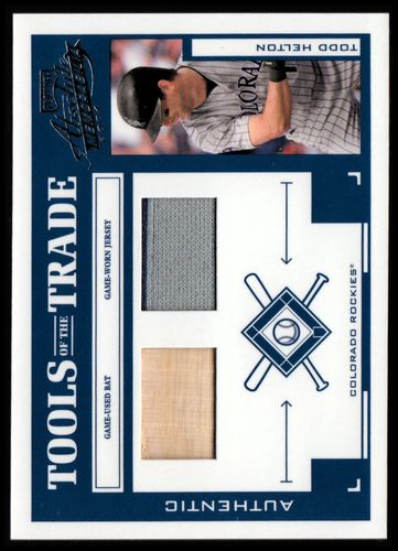 Photo of 2004 Absolute Memorabilia Tools of the Trade Material Combo #140 T.Helton A Bat-Jsy/250