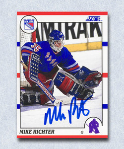 Mike Richter Autographed 1990 Score Rookie Card - New York Rangers