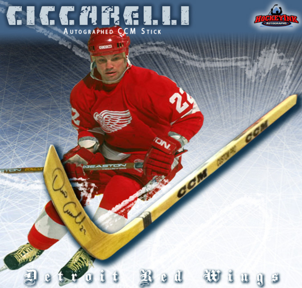 DINO CICCARELLI Signed CCM Stick - Detroit Red Wings