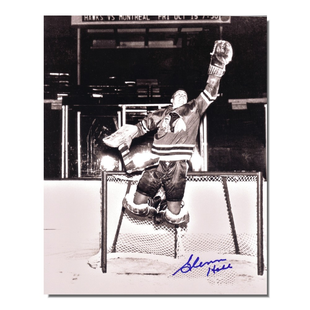 Glenn Hall Autographed Chicago Blackhawks 8x10 Photo