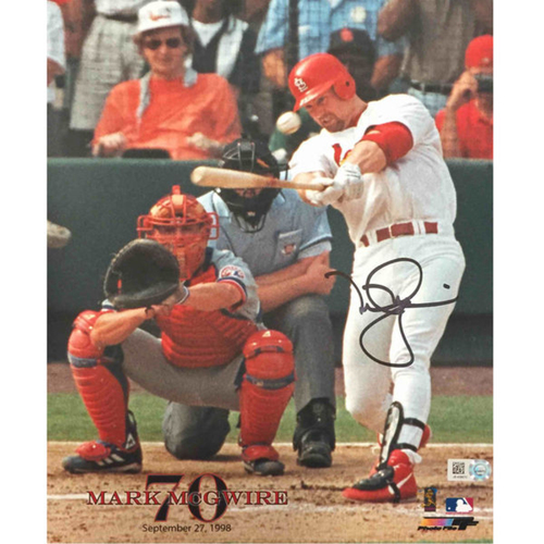 Photo of Cardinals Authentics: Mark McGwire Autographed 70th homerun Photo