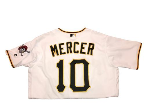 Photo of Jordy Mercer Game-Used Home White Jersey - 2016 Opening Day