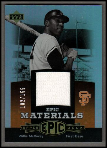Photo of 2006 Upper Deck Epic Materials Dark Orange #WM2 Willie McCovey Pants/155