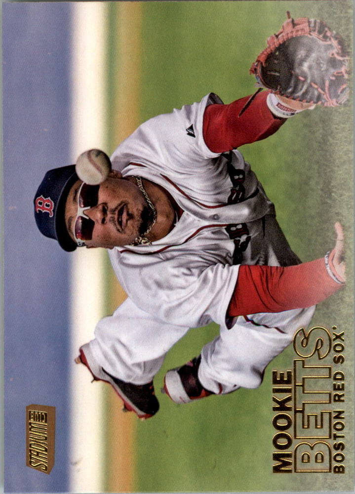 2016 Stadium Club Gold #141 Mookie Betts