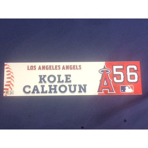 Photo of Kole Calhoun Team-Issued 2016 Locker Tag