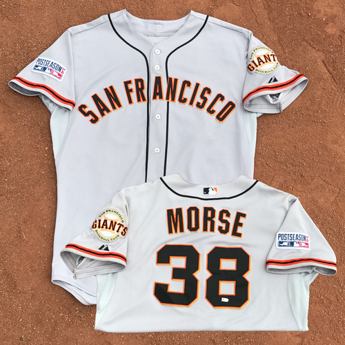 Photo of 2014 World Series Champion San Francisco Giants - 2014 NLCS Game 2 - Game-Used Jersey - Mike Morse - 1 for 1