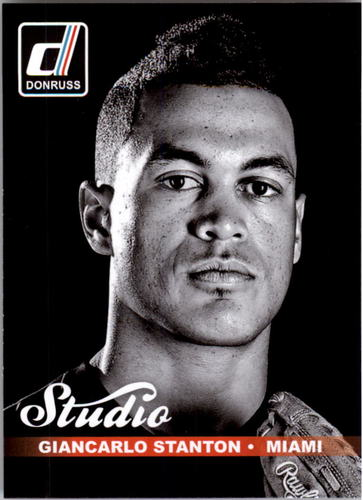 Photo of 2014 Donruss Studio #9B Giancarlo Stanton