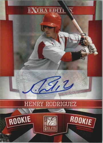 Photo of 2010 Donruss Elite Extra Edition #194 Henry Rodriguez AU/620