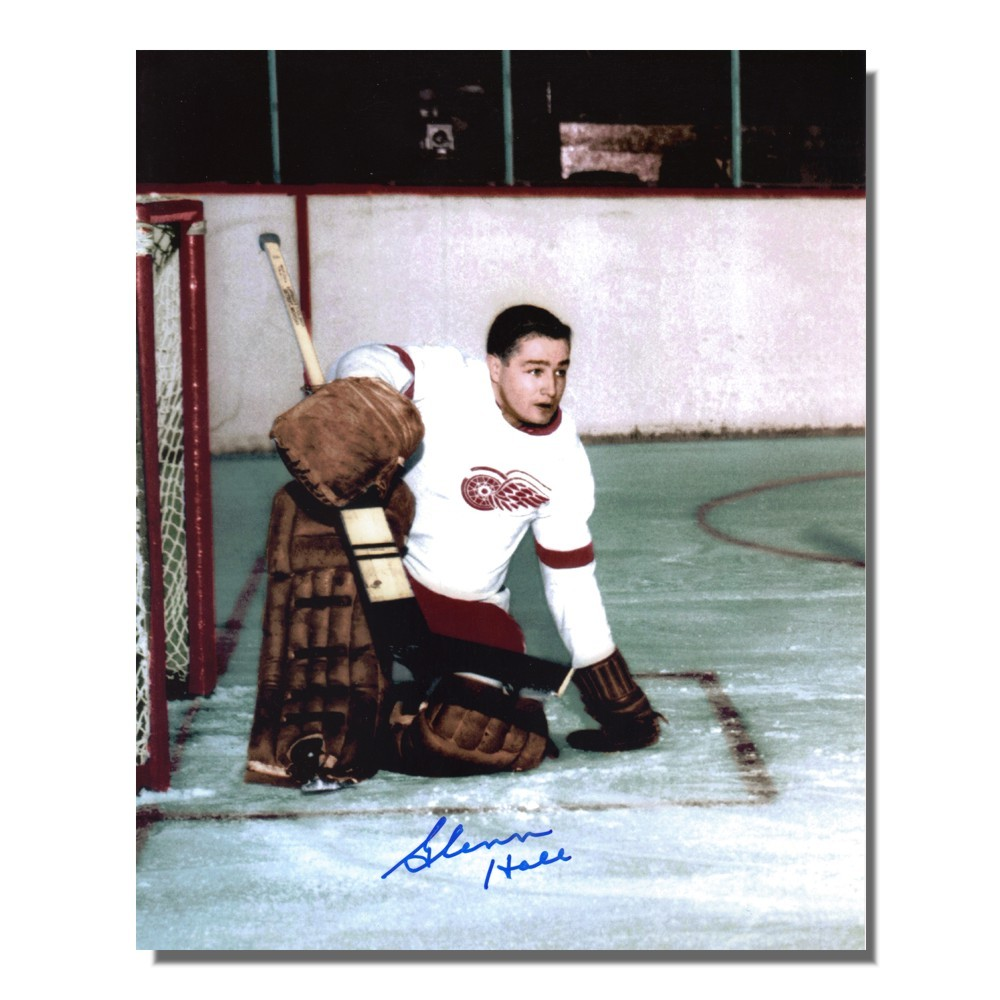 Glenn Hall Autographed Detroit Red Wings 8x10 Photo