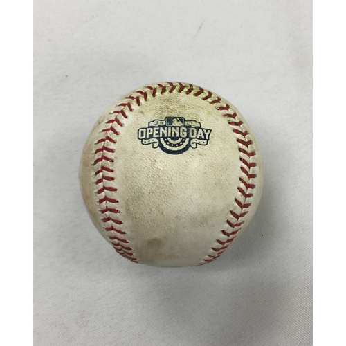 Photo of April 3, 2017 Pirates at Red Sox Opening Day Game-Used ball
