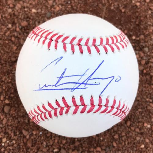 Photo of San Francisco Giants - Autographed Baseball - Christian Arroyo