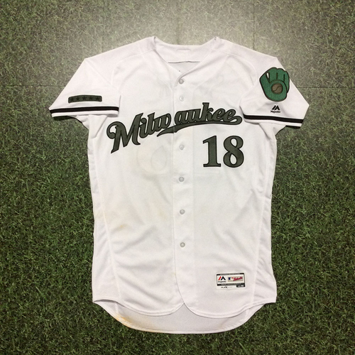Photo of Eric Sogard Memorial Day Tribute Game-Used Jersey - 2-4, 2B, RBI (05/27)