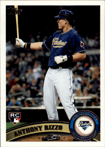 Photo of 2011 Topps Update #US55 Anthony Rizzo Rookie Card Cubs post-season