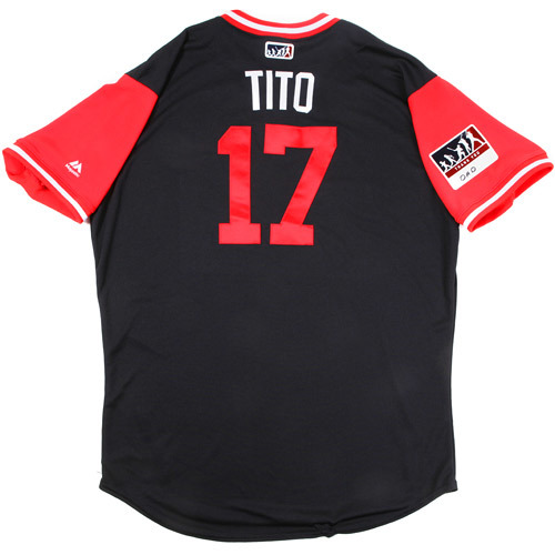"Photo of Terry ""Tito"" Francona Cleveland Indians Team-Issued Players Weekend Jersey"